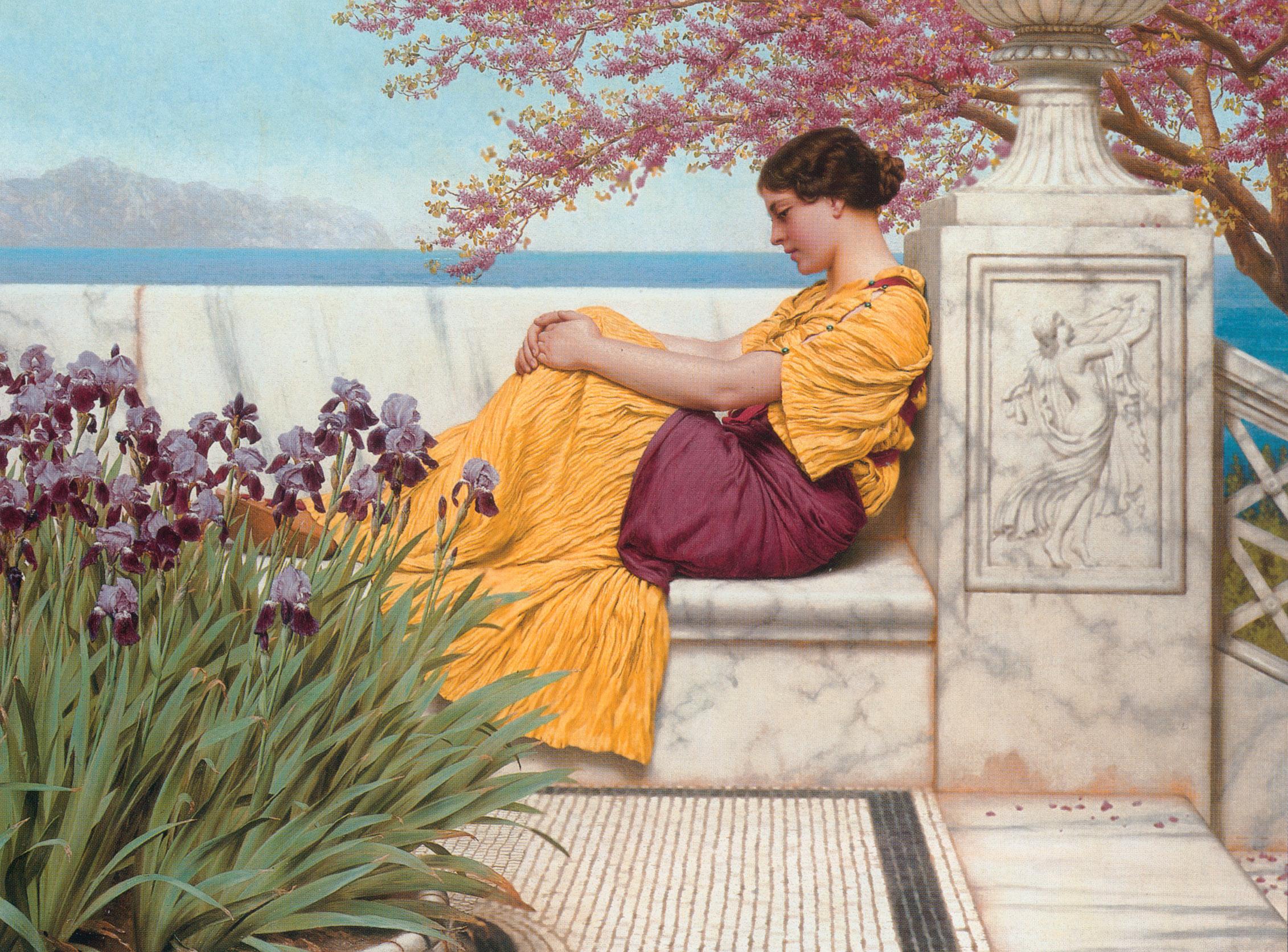 1917_Под цветущей ветвью (частная коллекция)
