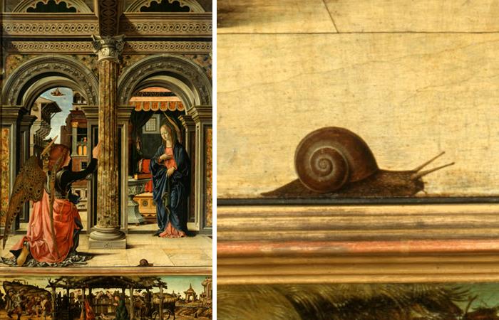 Символика улитки в христианстве: О чём рассказывабт самые известные картины с этим существом