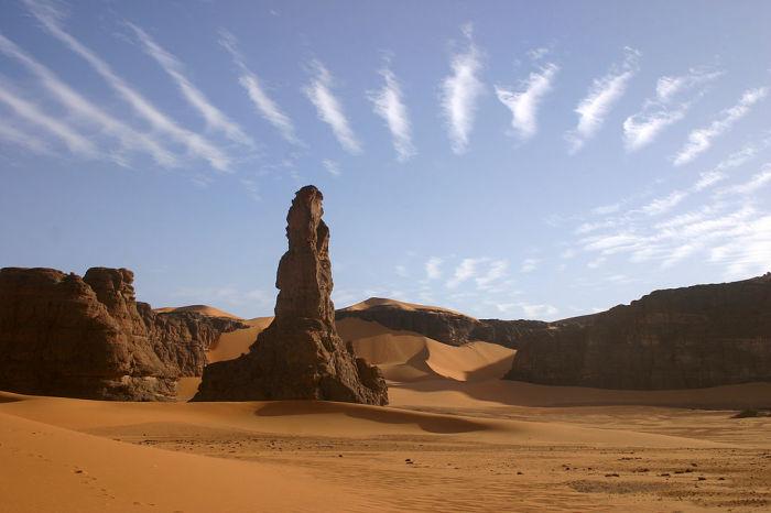 Ливийская скальная пустыня в наши дни. /Фото:wikipedia.org