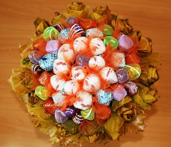 Букеты из конфет своими руками