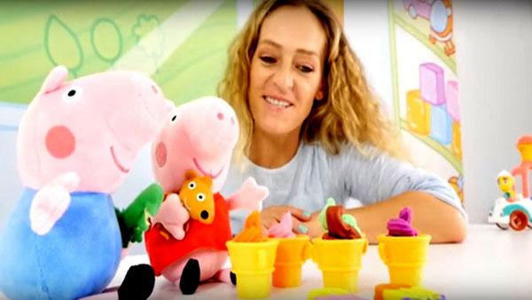 Свинка Пеппа ждет гостей! Видео на немецком