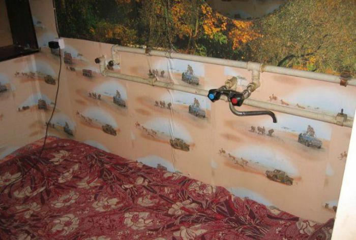 Спальня в ванне.