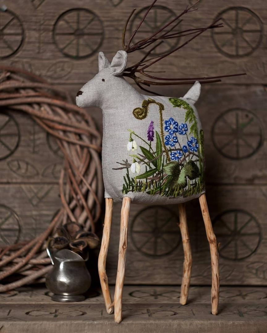 Здесь живут вышитые олени.... вдохновляемся,вышивка,творчество