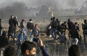 Израиль нанес удары по боевикам в Секторе Газа, в ответ на подрыв фугаса у границы