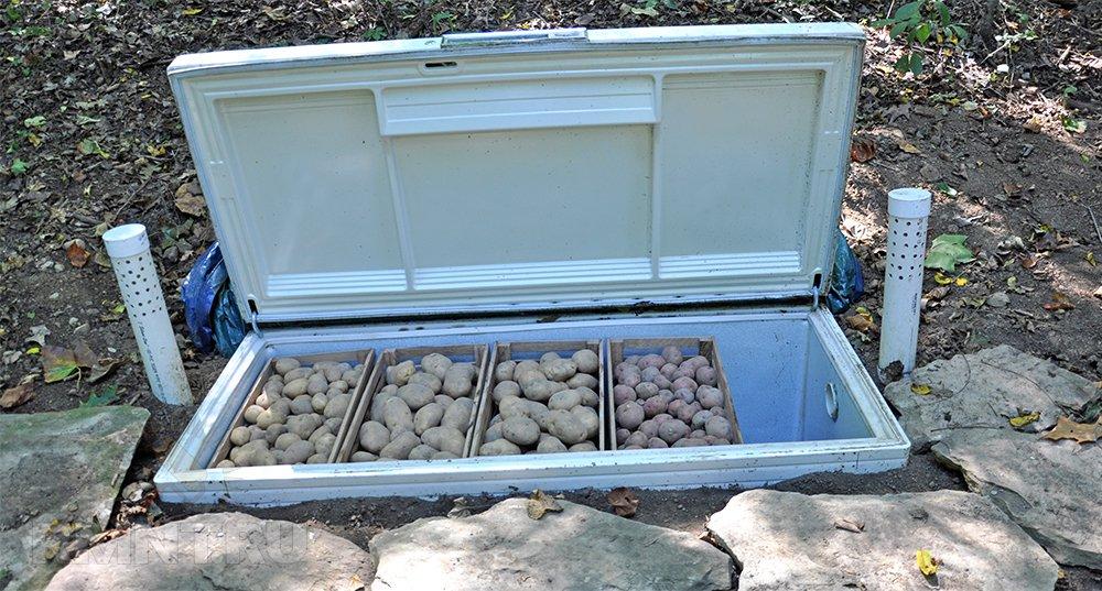 Погреб из старого холодильника