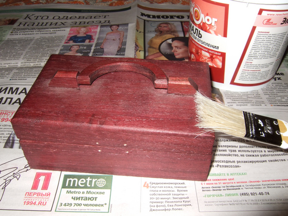 Переделка деревянной коробочки