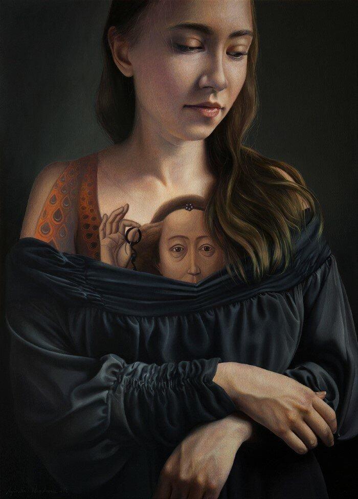 Картина в картине художника Агнешки Ниенартович ИНТЕРНЕТ ШКАТУЛКА,Картина в картине художника Агнешки Ниенартович