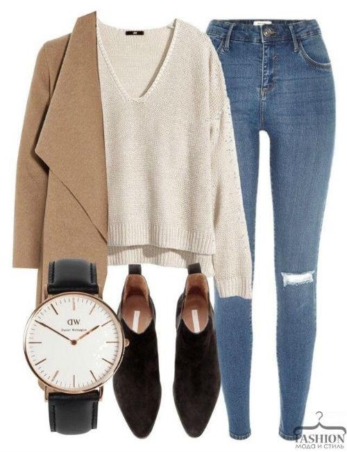 Комфортные образы с джинсами на каждый день