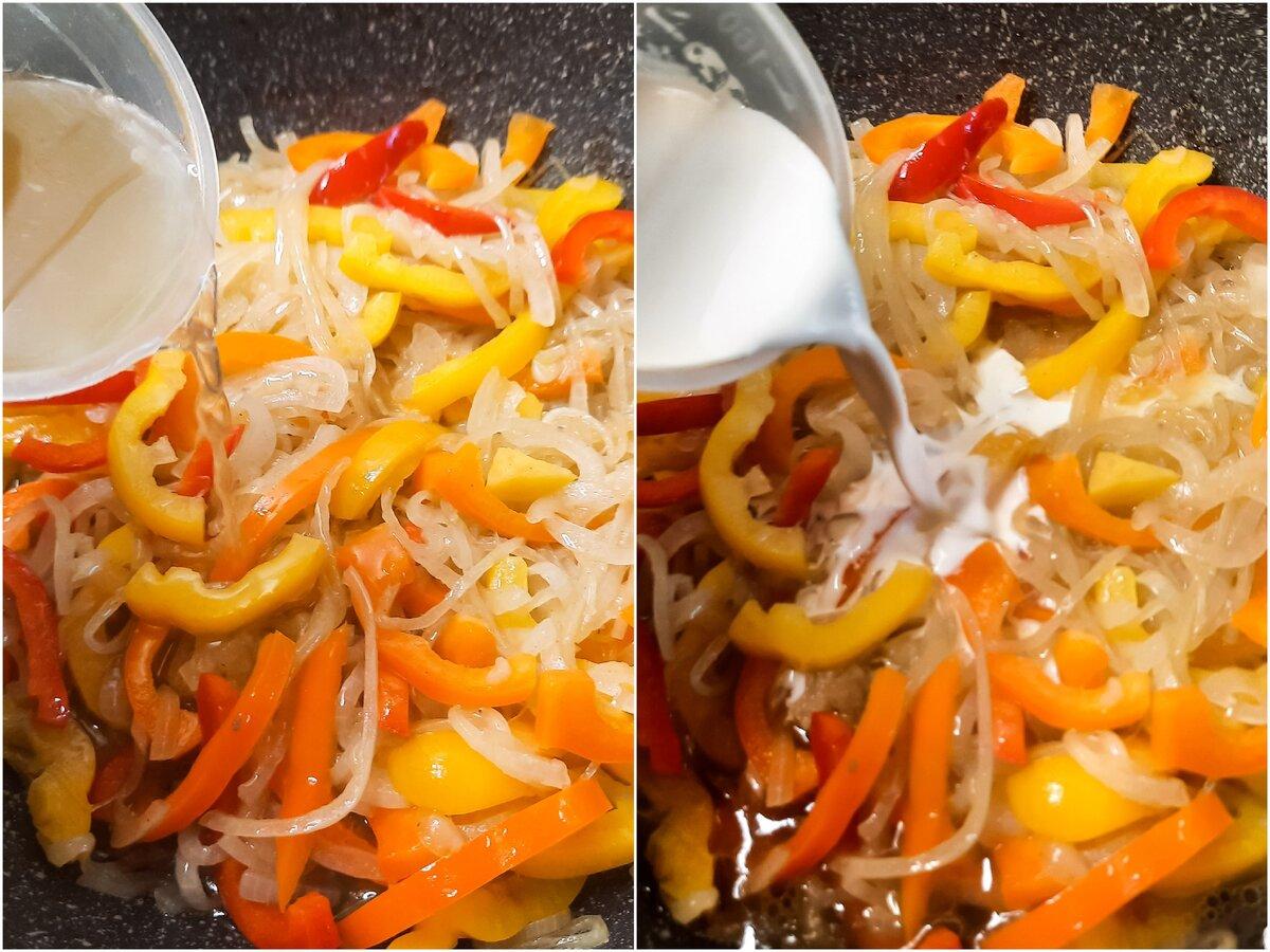 Печёнка со сладким перцем в горшочках вторые блюда,горячие блюда