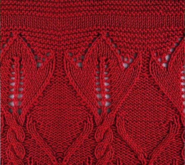 стиль бохо для полных женщин вязание спицами узор тюльпаны