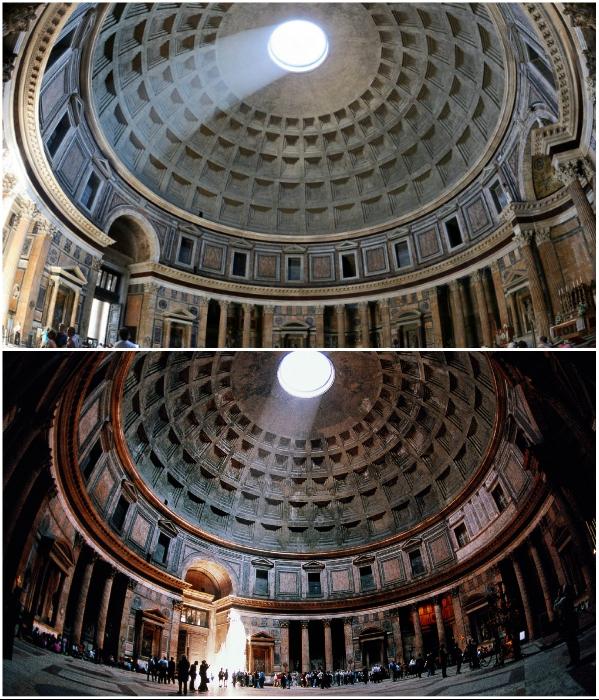 Считается, что римский Пантеон был и местом поклонения богам и древней обсерваторией. | Фото: delovoy-kvartal.ru/ rome-with-love.ru.
