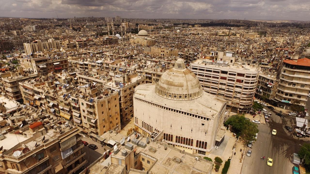 Памятник российским военным, павшим в борьбе в терроризмом, открыли в Алеппо