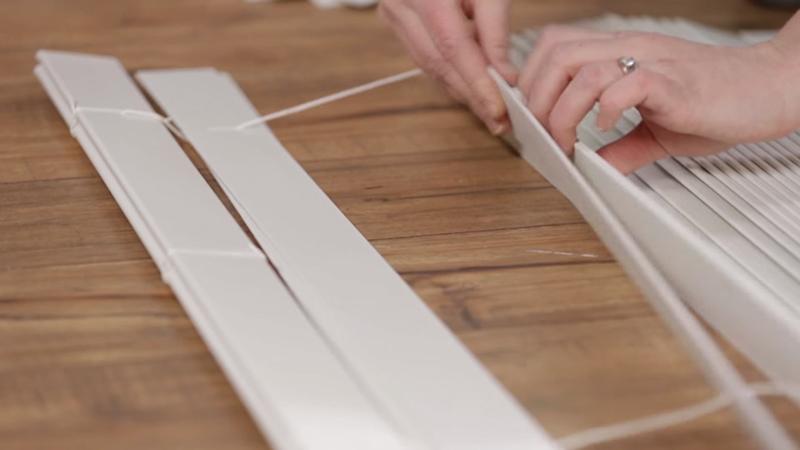 Как сделать римские шторы из старых жалюзи