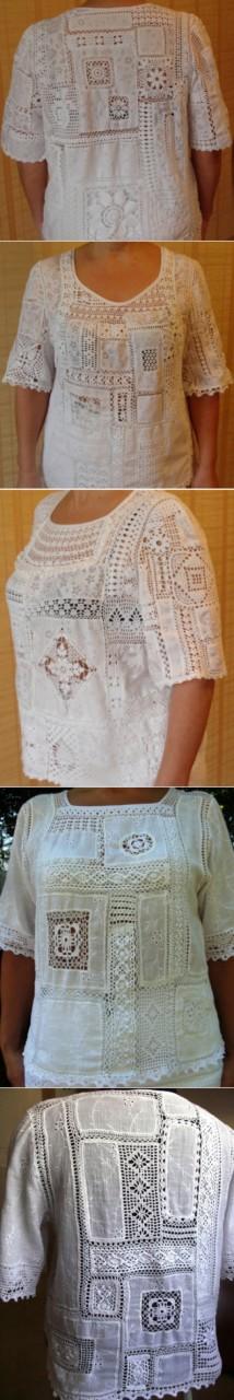 Креативный вязаный пэчворк - запись пользователя Марина в сообществе Вязание крючком в категории Женская одежда крючком. Схемы и описание