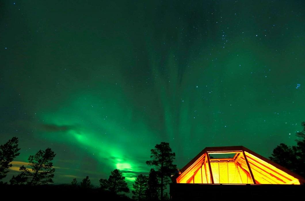 Северное сияние в Норвегии Норвегия