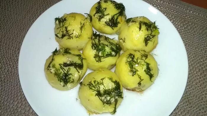 Картофельные шарики с грибам…