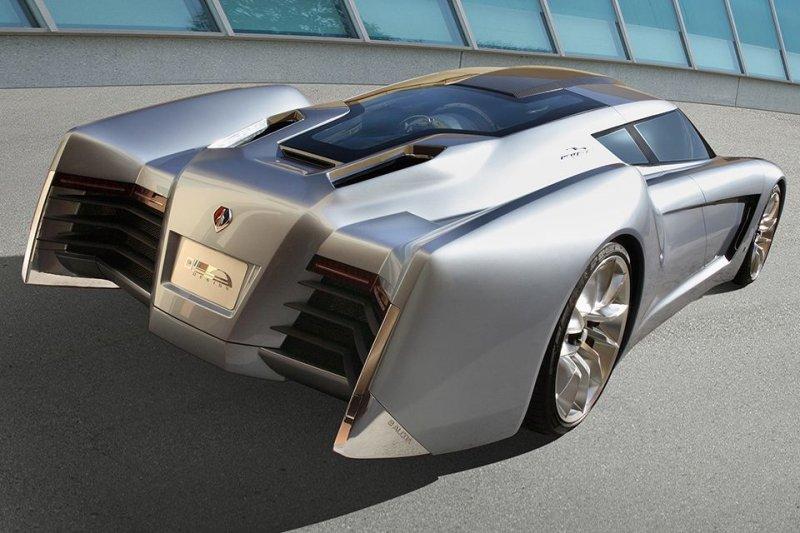 GM EcoJet авто, автодизайн, автомобили, аэродинамика, дизайн, обтекаемость, самолет