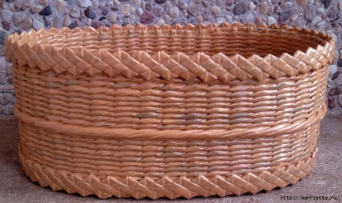 Плетение из газет. Мастер-класс и примеры применения фигурной косички (18) (700x414, 267Kb)