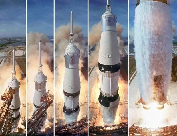 Полёт американцев на Луну на бутафорских ракетах