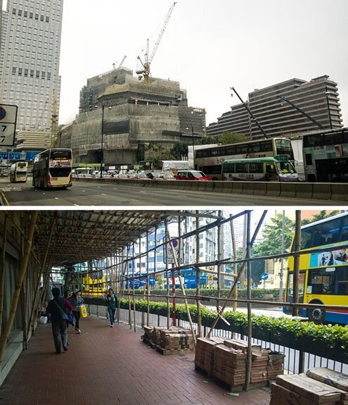 В Гонконге много современных небоскребов, но леса для их строительства продолжают сооружать из бамбука страны, факты, это интересно