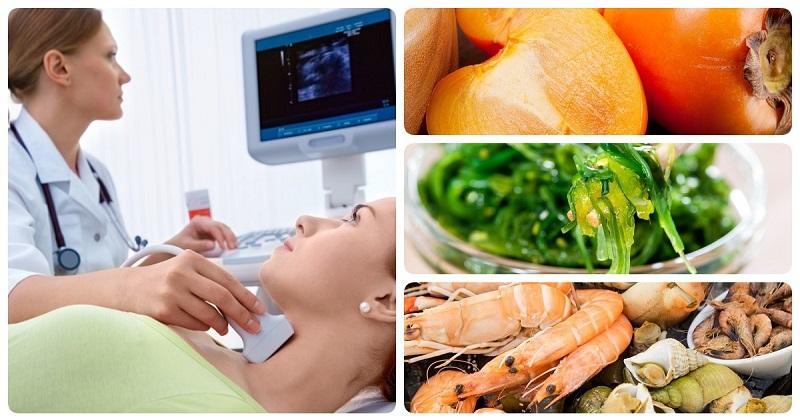 йод в продуктах помогает щитовидной железе