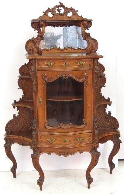 FRENCH CARVED WALNUT ETAGERE - Sold $600