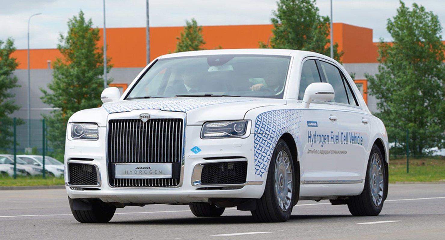 В России создали автомобиль Aurus Senat на водороде Автомобили