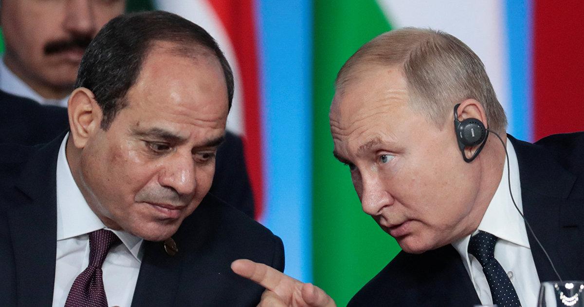 Президенты России и Египта договорились о возобновлении чартерного авиасообщения