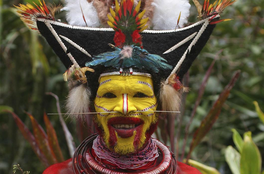 Папуа — Новая Гвинея волосы, прическа