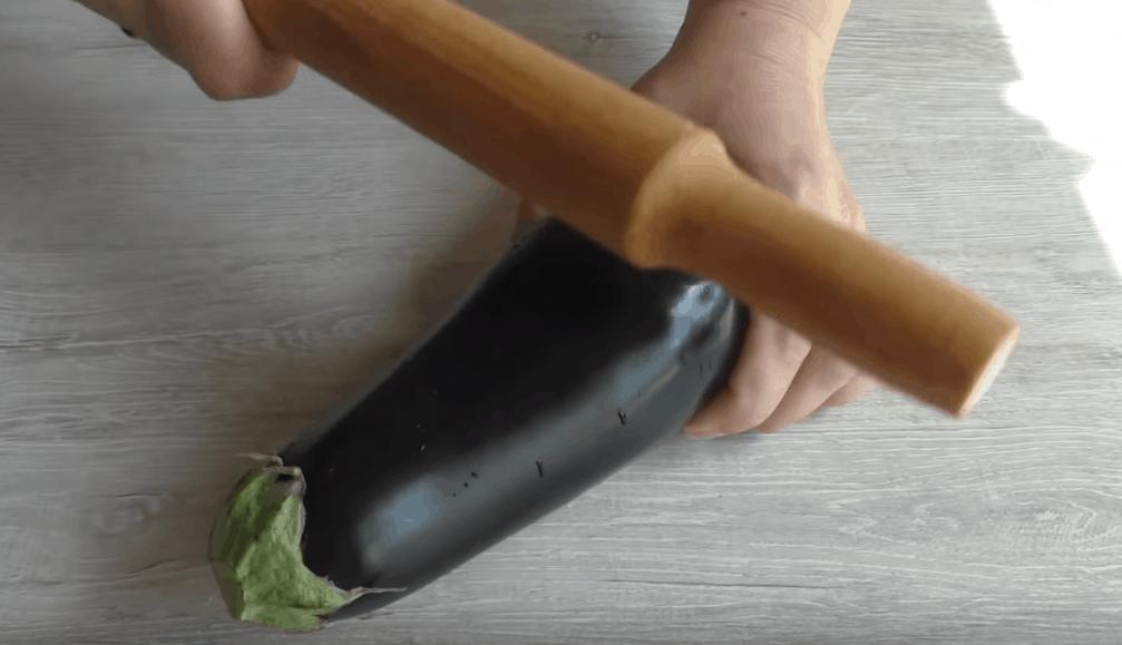 Шашлык в баклажане и мясо в отбитом баклажане 2 рецепта
