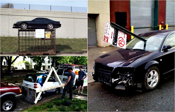 Злостные нарушители, наказанные за парковку