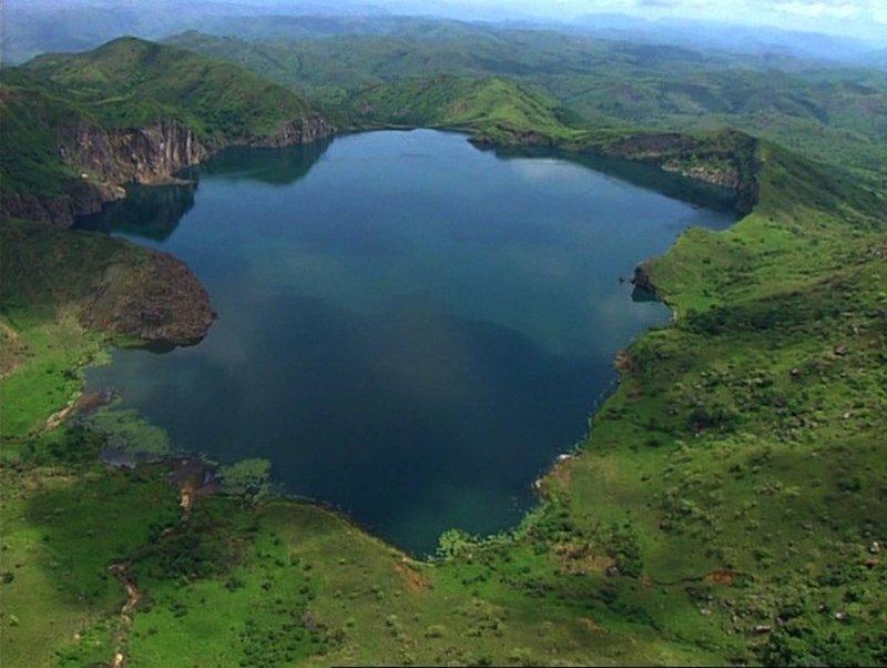 Озеро Ньос до трагедии 1986 год, Ньос, камерун, трагедия