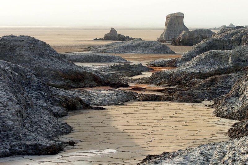 Соляные озера долины: вид с воздуха. Фото: Мишель Тулуз (Michel Toulouse: Reuters) безжизненное место, вулканы, интересное, фотографии
