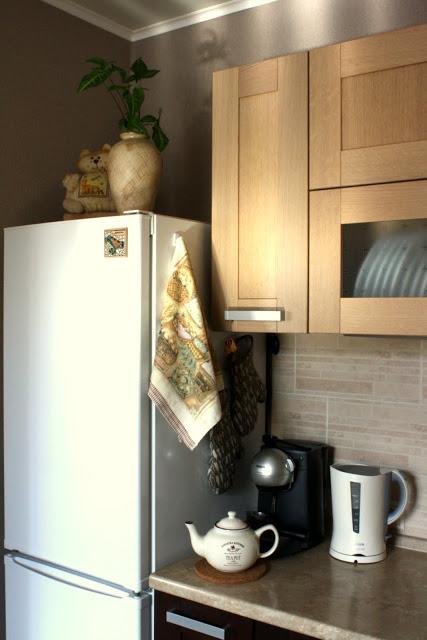 Дизайн кухни цвета венге