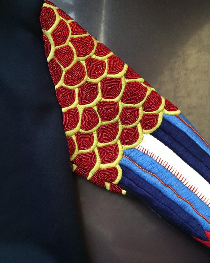 Ручная вышивка бисером от ART ME JULIE (полностью расшитый рукав)