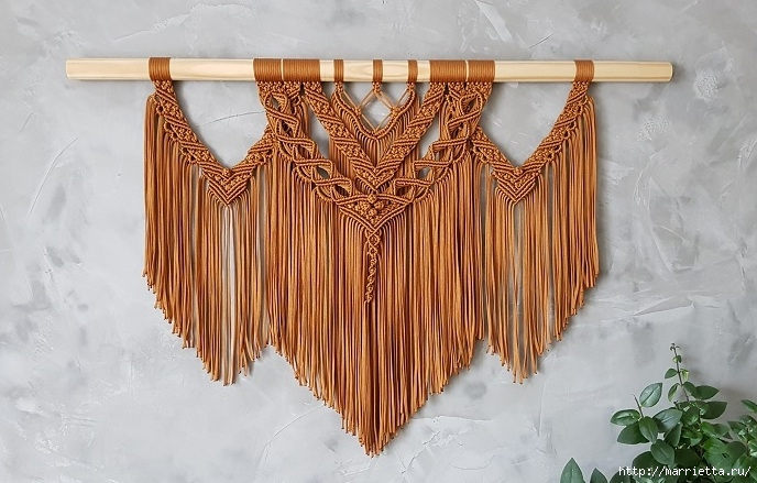 Декоративное панно «бохо» в технике макраме