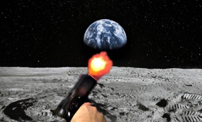 Можно ли выстрелить с Луны из пистолета, чтобы пуля долетела до Земли Культура