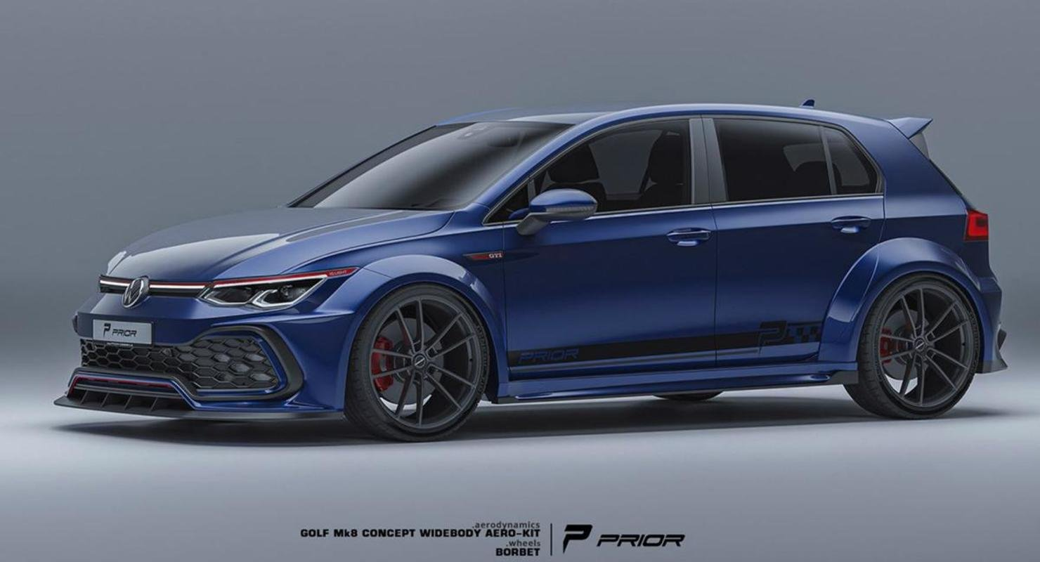 Volkswagen Golf GTI Mk7 2022 года получил агрессивный обвес от фирмы Prior Design Автомобили