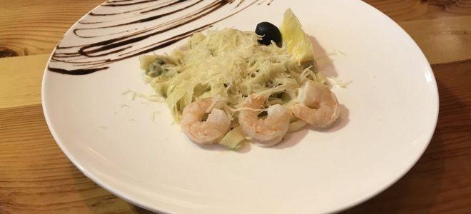 фунчоза с морепродуктами в сливочном соусе рецепт