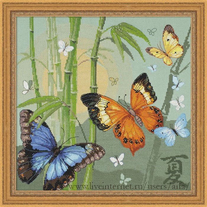 СТЕЖОК, ЕЩЁ СТЕЖОК. Бабочки в восточном стиле риолис