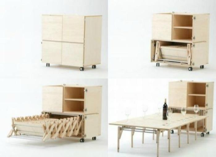 Как спрятать огромный стол (подборка)