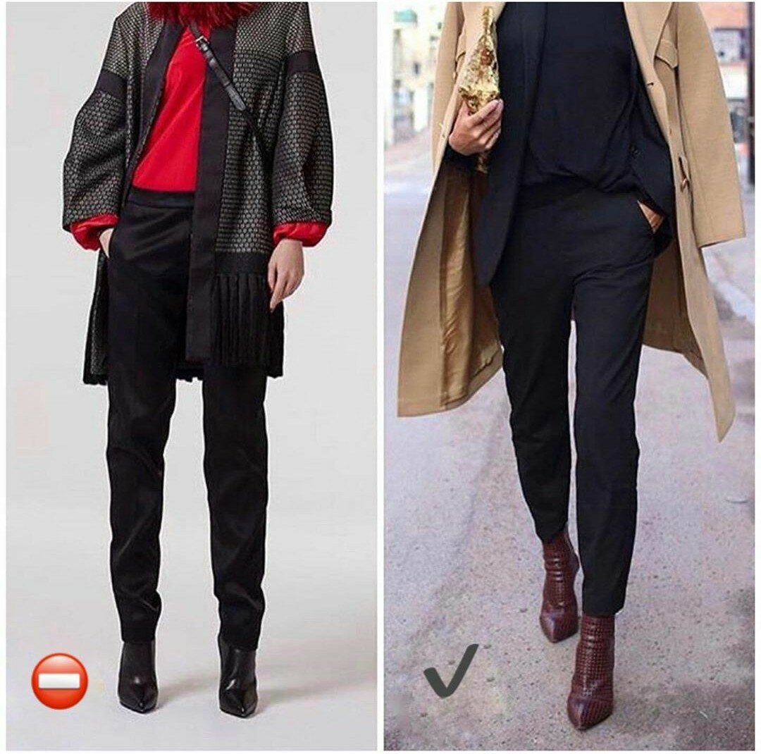 Фото красные брюки капри зима освещение международной