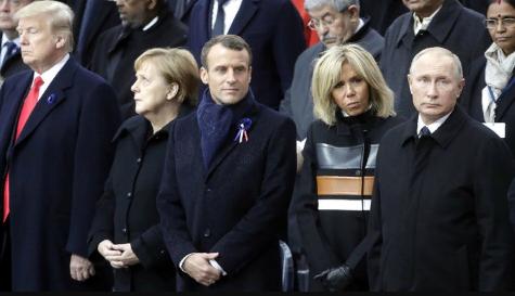 Путин и Трамп встретились глазами в Париже. Эдуард Лимонов