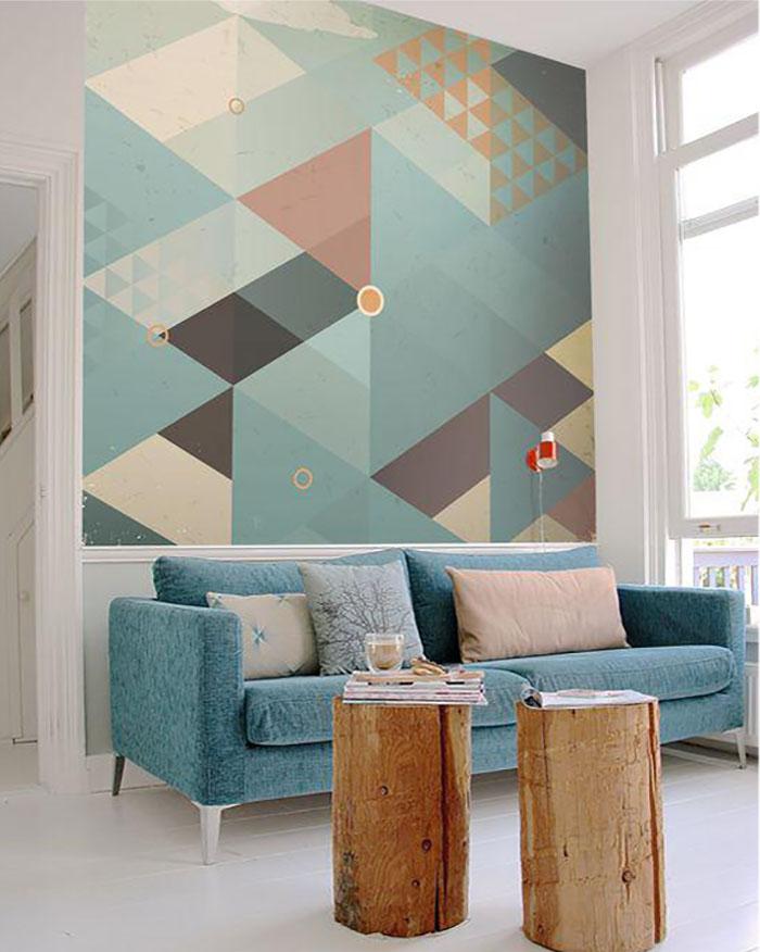 абстракция на стене своими руками фото