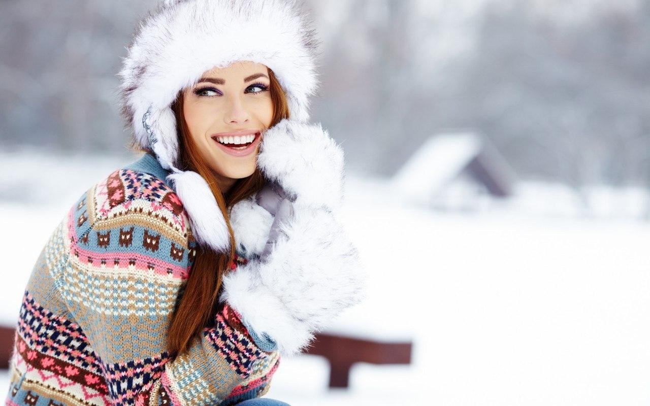 Картинки, картинки женщина зима красивые