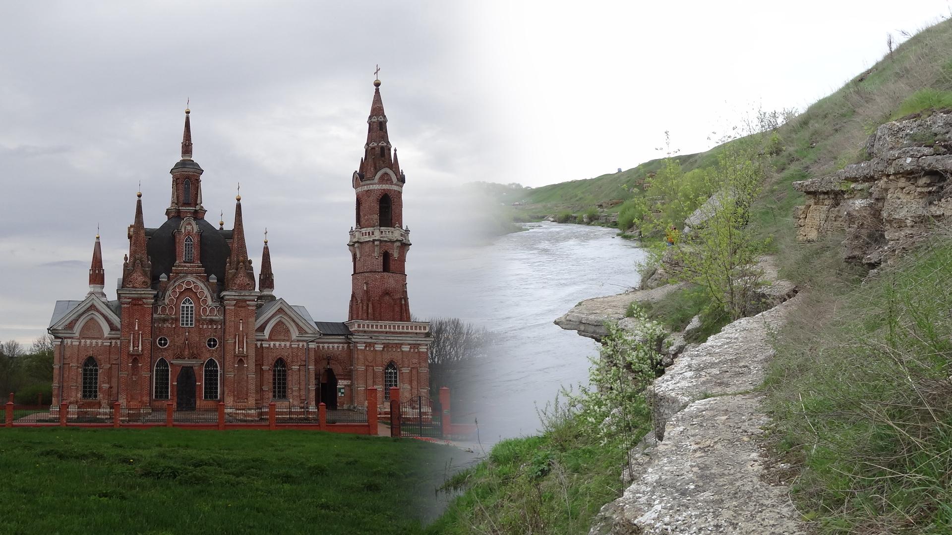 Путешествие по Липецкой области – часть 5. Псевдоготика, скалы и подвесной мост