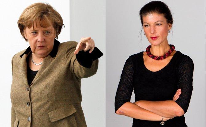 В Германии устроили травлю Сары Вагенкнехт за интервью Russia Today и высказывания о Меркель как марионетке США