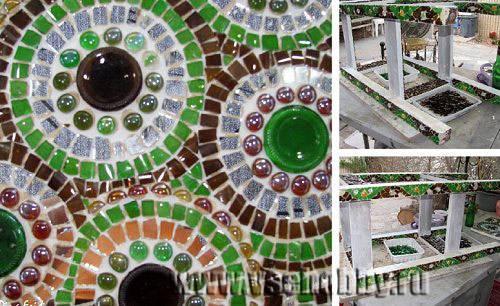 мозаика из пустых пивных бутылок своими руками мастер-класс