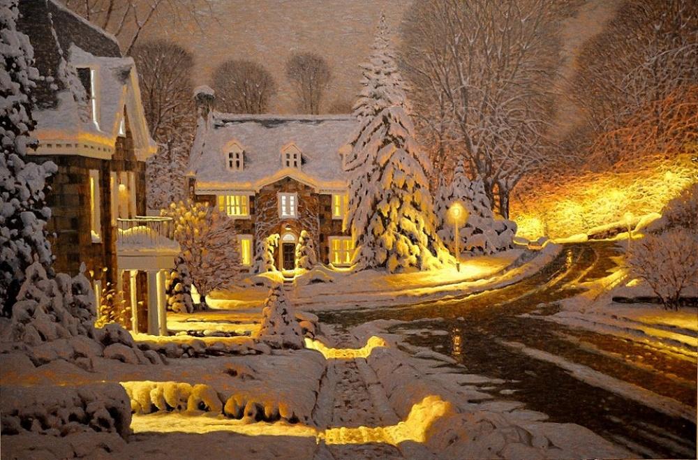 Волшебная пастель  Ричарда Савойя — 15 уютнейших сНЕЖНЫХ картин вместо тысячи психологов