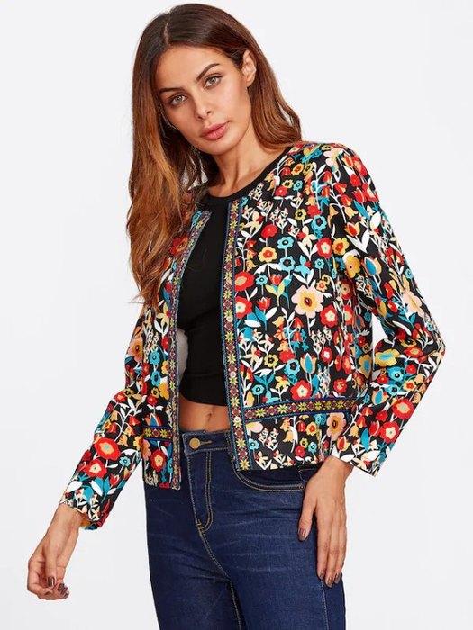Модная Куртка СВышивкой, 1 400руб. (SHEIN)
